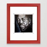 Morgan Freeman Framed Art Print