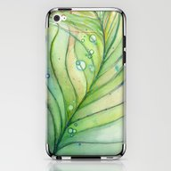 Green Watercolor Feather… iPhone & iPod Skin