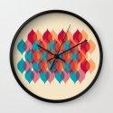 Ogee orgy cream Wall Clock