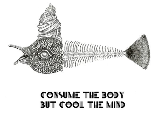 Consume the body Art Print