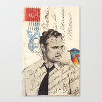 Brando and Bird Canvas Print
