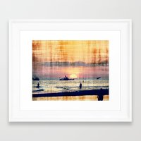 and The world was quiet .... Framed Art Print