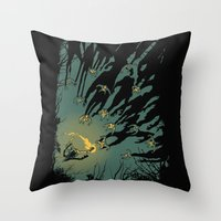 Zombie Shadows Throw Pillow