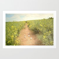 Meadow Of Paperboats Art Print