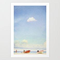 Lonely Skies - Playa del Carmen Art Print