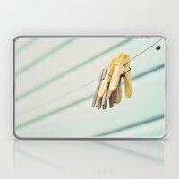 Pegs by a beach hut Laptop & iPad Skin