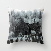 Abandoned Lot  Throw Pillow