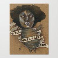 REGULAR BADGER Canvas Print