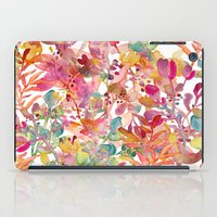 watercolor meadow iPad Case