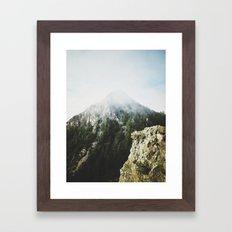 She saw the mountain mist Framed Art Print