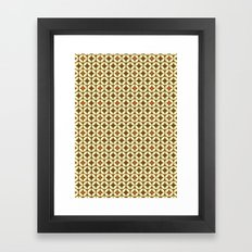 Repeated Retro - brown Framed Art Print