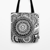 Tote Bag featuring Mandala Explosion  by I'm Knot Tangled