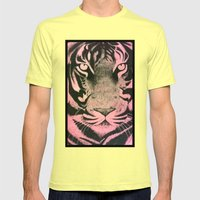 Be a Tiger (Pink) Mens Fitted Tee Lemon SMALL