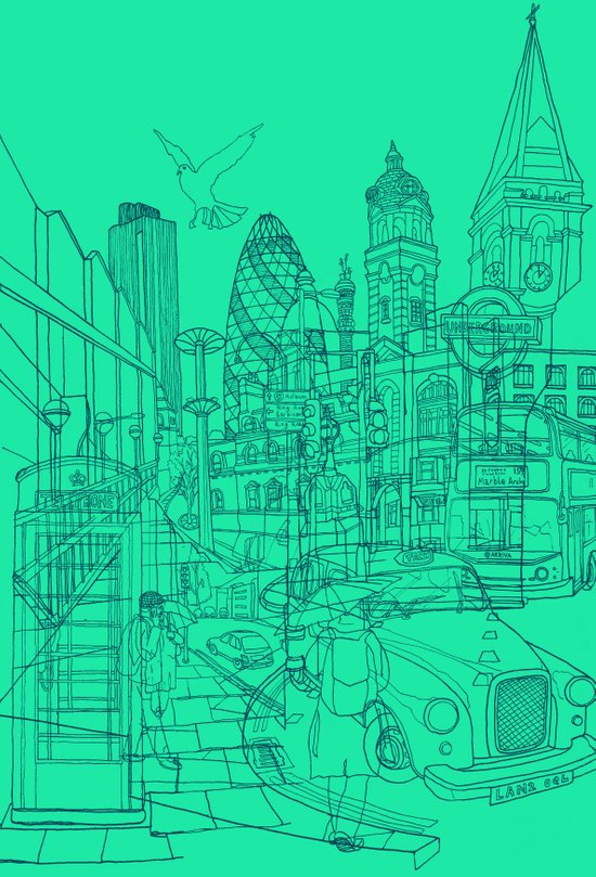 London! Mint Art Print
