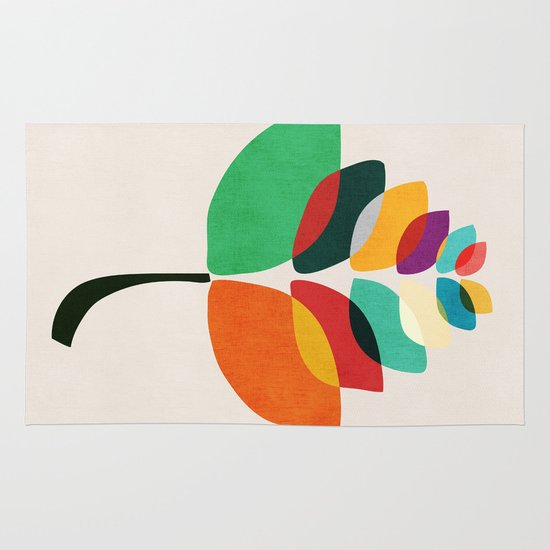 Lotus flower Area & Throw Rug