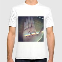 Pink Floyd Mens Fitted Tee White SMALL