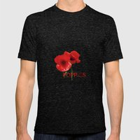 FLOWERS - Poppy Reverie Mens Fitted Tee Tri-Black SMALL
