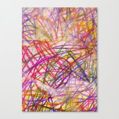 Ilaria Multi Scribble Canvas Print