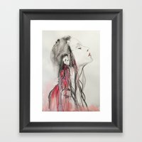 Vampires Are Lucky Framed Art Print