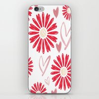 Hearts And Flowers iPhone & iPod Skin