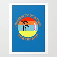hawaii Art Prints featuring Hawaii by lescapricesdefilles
