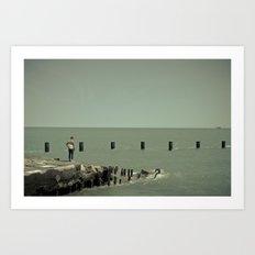 On Lake Michigan Art Print