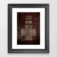 Downward Cross  Framed Art Print