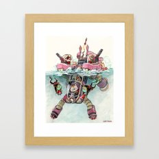 The Submarine Squad Framed Art Print
