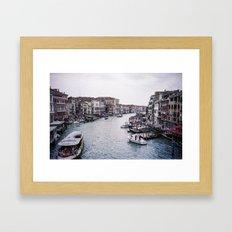 Faded Memories: Grand Canal Framed Art Print