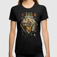 Caleidos Womens Fitted Tee Tri-Black SMALL