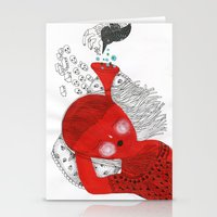 The ear that never sleeps Stationery Cards
