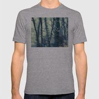 Woodland Holiday  Mens Fitted Tee Athletic Grey SMALL