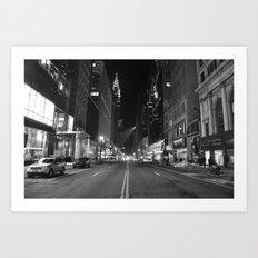 Empty 42nd Street Art Print