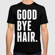 Good Bye Hair. Black Mens Fitted Tee SMALL
