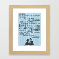 The Blues Brothers Everybody Quote Framed Art Print