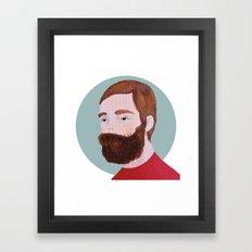 beard Framed Art Print