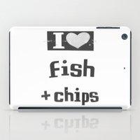 I ♥ Fish And Chips - Dark Gray iPad Case