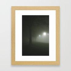 Night fog Framed Art Print