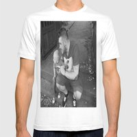 Lou And Daddy Mens Fitted Tee White SMALL
