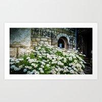 Museum & Wild Flowers - … Art Print