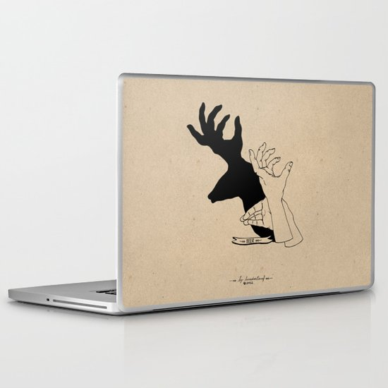 Hand-shadows Laptop & iPad Skin