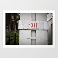 exit::charleston Art Print