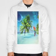 Parrot In The Beach Hoody