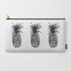 Black and White Pineapple Carry-All Pouch