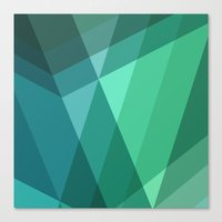 Fig. 046 Mint, Sea Green… Canvas Print