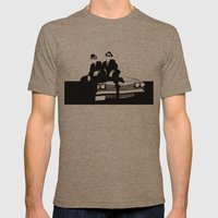 Blues Brothers Mens Fitted Tee Tri-Coffee SMALL
