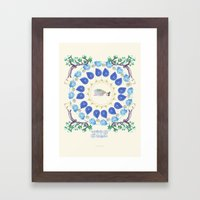 yoga garden II Framed Art Print