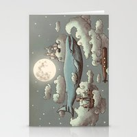 blue Stationery Cards featuring Ocean Meets Sky by Terry Fan