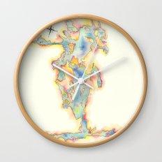 Go Home Lake - Coloured Map Wall Clock