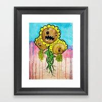 Sick Weeds Framed Art Print